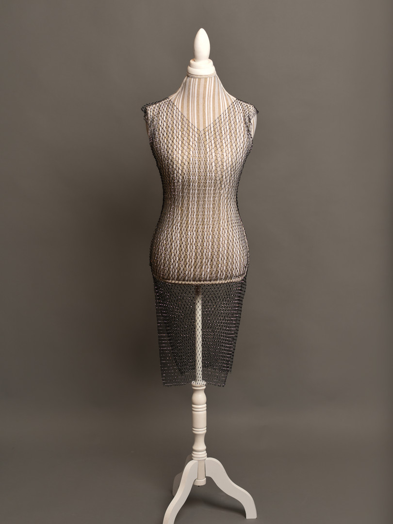 Mesh Crystal dress (one size)