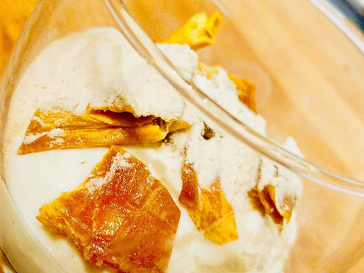 Yogurt with Baobab and Dried Mango