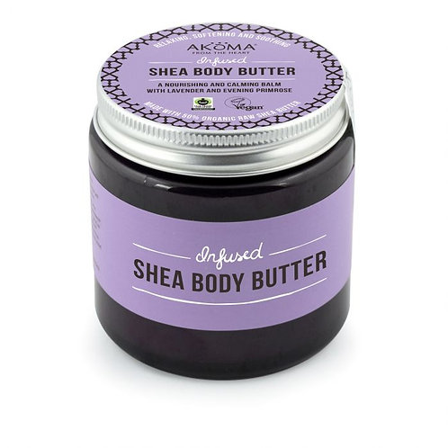 Infused Shea Body Butter. A Nourishing and Calming Balm with Lavender and Evenin