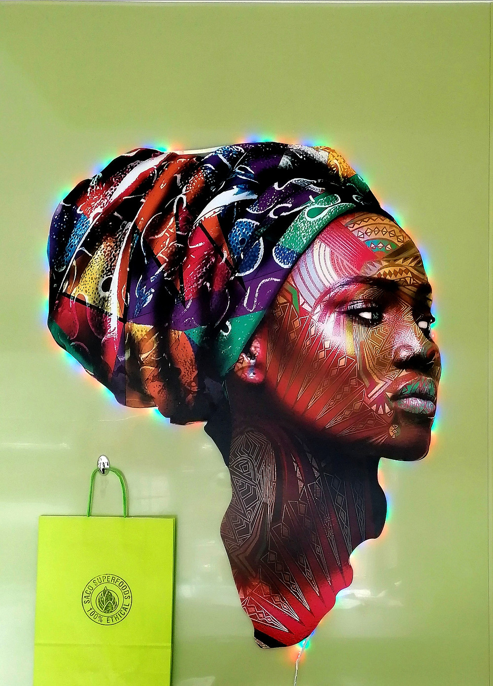 Mama Africa - art piece created by French /Senegalese artist Baro Sarré