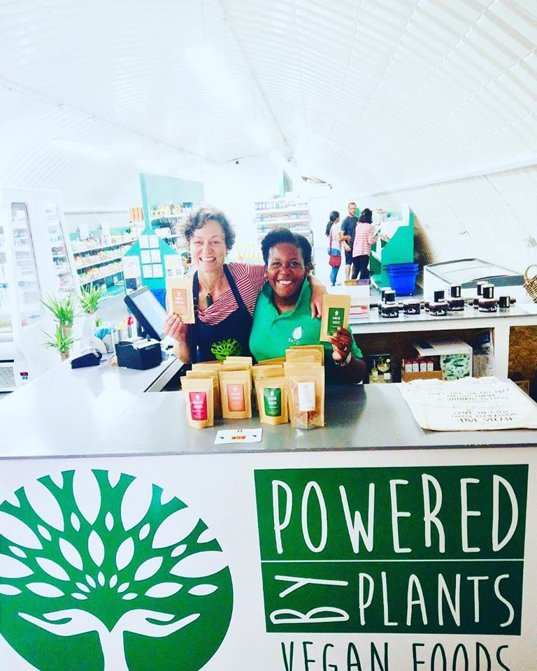 Lucia and Becky at Powered by Plants - @saco image