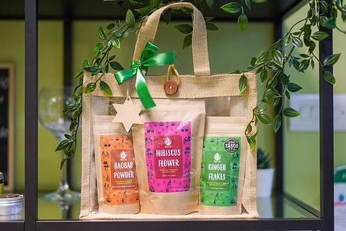 Superfoods gift set in Jute Bag