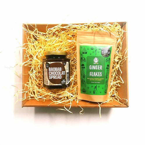 Dried Ginger Flakes & Baobab Chocolate Spread Gift Set