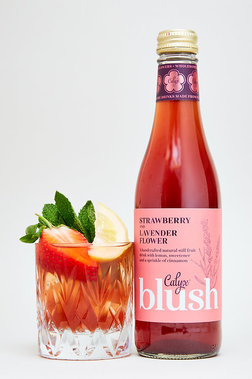 Strawberry and Lavender Flower Juice
