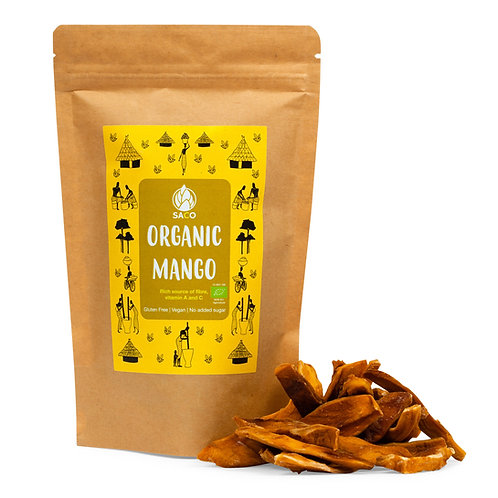 ORGANIC DRIED MANGO - RICH IN FIBER