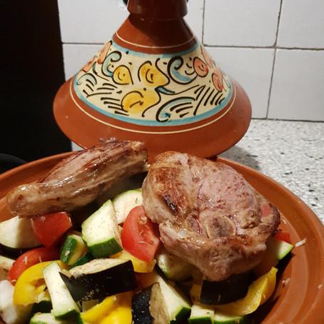 Tajine gerecht met lamsvlees