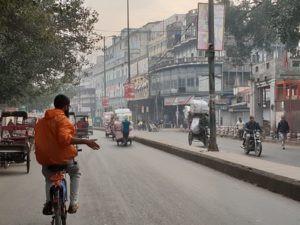 Fietsen in Delhi