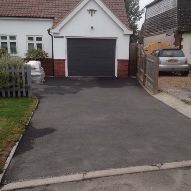 Driveway before resin bound surface applied