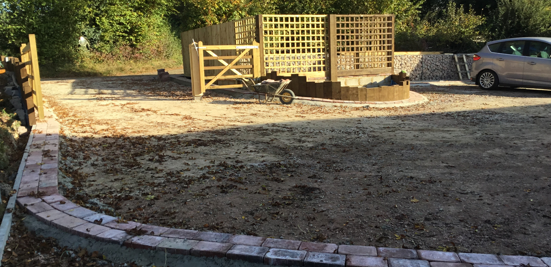 Driveway Make Over in Charing, brick blo