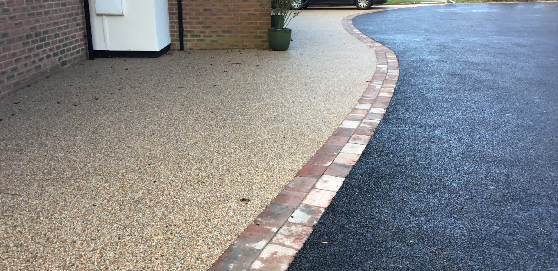 Driveway Make Over in Charing, resin bou