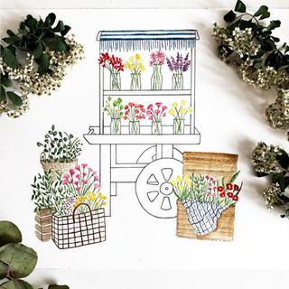 Love Leigh Day Flower Cart