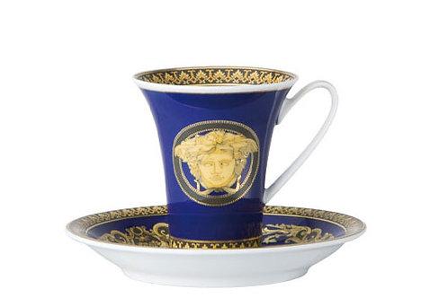 Кофейная пара эспрессо Medusa Blue, Versace&Rosenthal