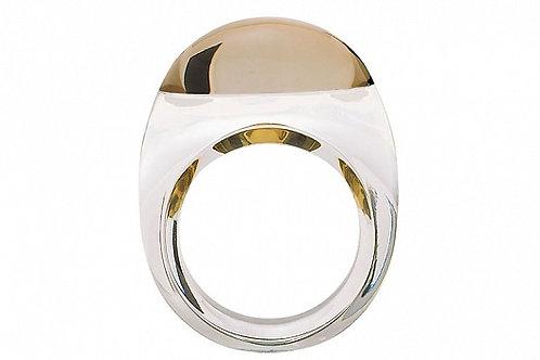 Кольцо Tango (прозрачный и золото), Baccarat