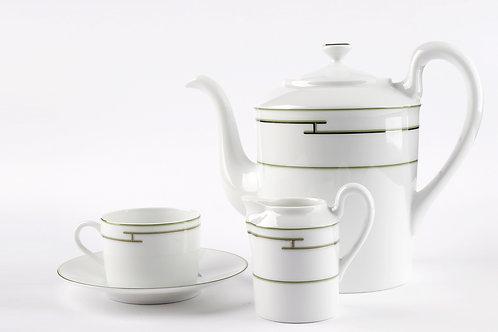 Чайный сервиз Green Platine (на 2 персоны), Hermes