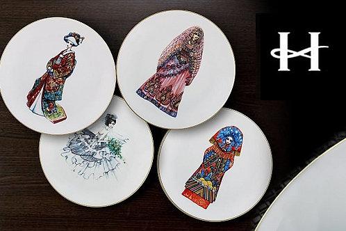 Набор десертных тарелок «Церемония», Haviland