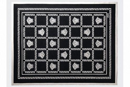 Ковер черный с белыми медузами, Versace Home