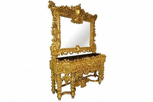 Консоль с зеркалом, Boiserie Italia