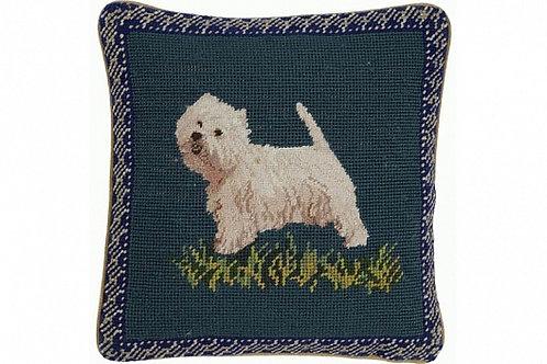 Диванная подушка Westie On Blue, Chelsea Textiles