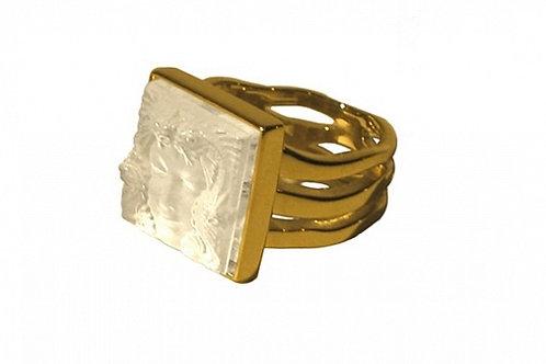 """Кольцо """"Маска Женщины"""", Lalique"""