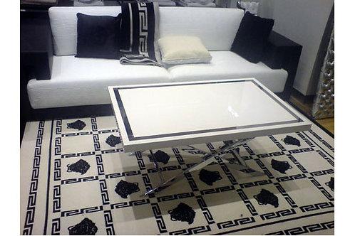 Ковер белый с черными медузами, Versace Home