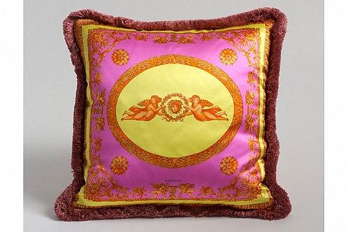 Диванная подушка «Ангелы» (розовая), Versace Home