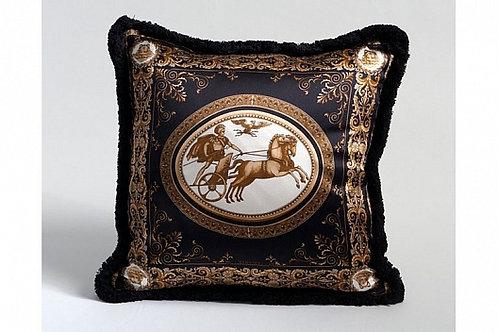 Диванная подушка «Колесница» (черная), Versace Home