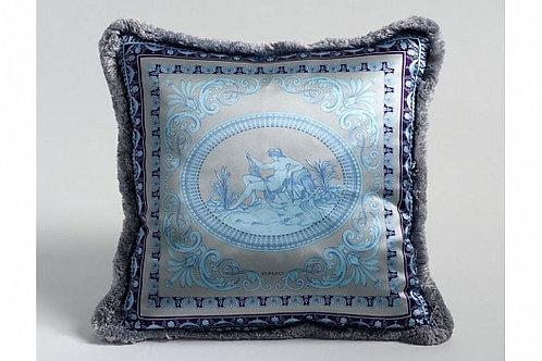 Диванная подушка «Дева» (голубая), Versace Home