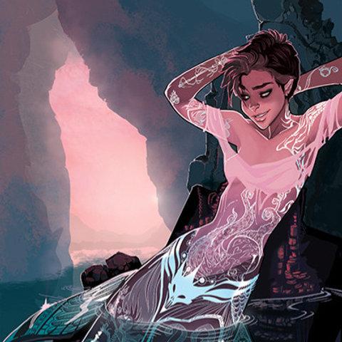 """Inked"" Mermaid III"