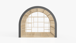 semi circle glamping pod frame 1