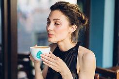 Enjoying coffee with BUCK milk