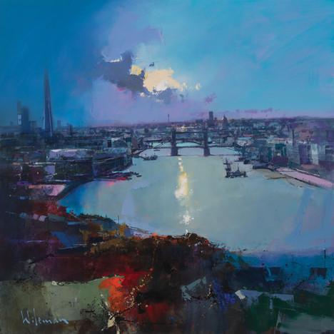 Late Afternoon Light  over the City - 80cm x 80cm Oil on Canvas LR sRGB.jpg