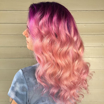 Swipe left to see this color in motion 💖💖💖 You can now book online through my Instagram! #bookwithlacey