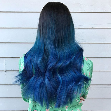 """Sometimes I break out in song after doing someone's hair. Went with _leannrimes """"Blue"""" for obvious reasons.jpg"""