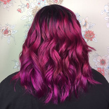 Left a natural root and then did variations of joyco magenta, pulp riot nightfall and pravana wild orchid...jpg