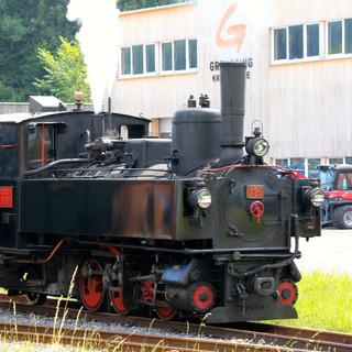 Dampflok im Bahnhof Schwarzenberg