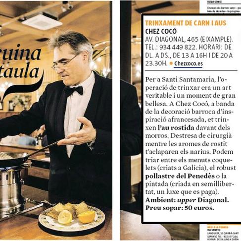 """""""La cuina a taula"""" publicado por: Què fem? Suplemento de La Vanguardia."""