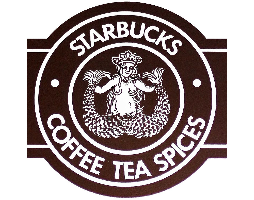 Starbucks Coffee first logotype 1971-1987