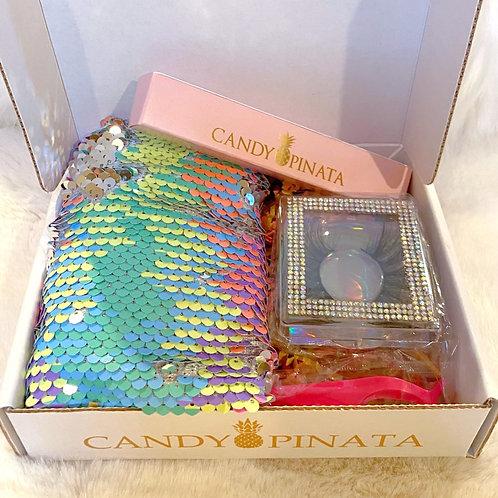 Candy Pinata Beauty Box w/ Luxe Beauty Bag
