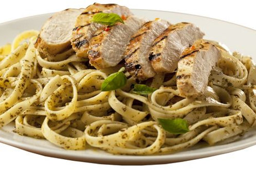 Fettuccine With Grilled Chicken Dinner