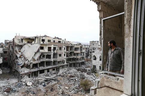 Syrie. Ces ruines c'etait chez moi