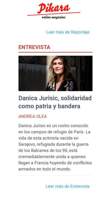 Danica Jurisic: Solidarité comme patrie et drapeau