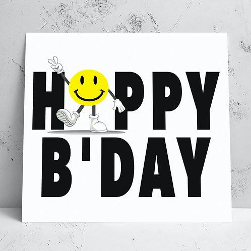 Smiley Happy Birthday Card