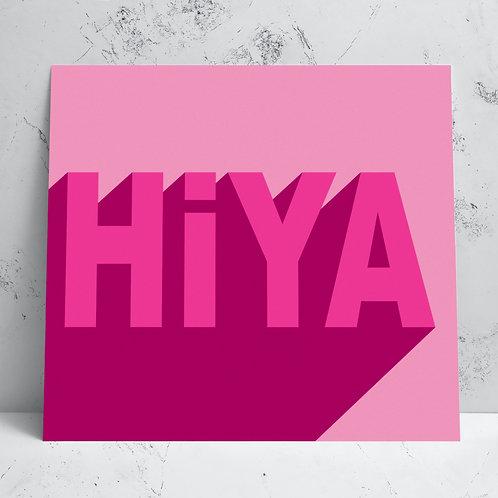 Hiya Card