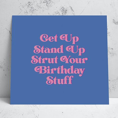 Get Up Birthday Card