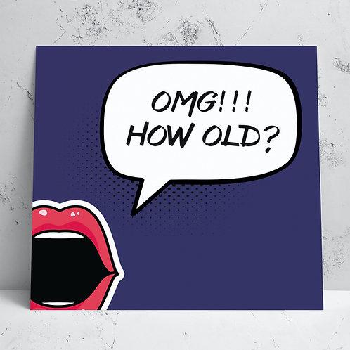 How Old Birthday Card