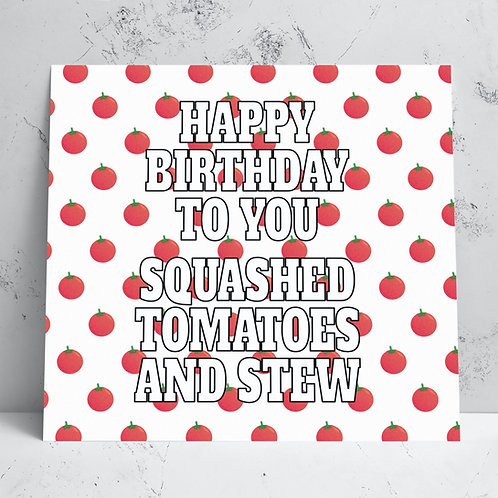 Tomatoes Birthday Card