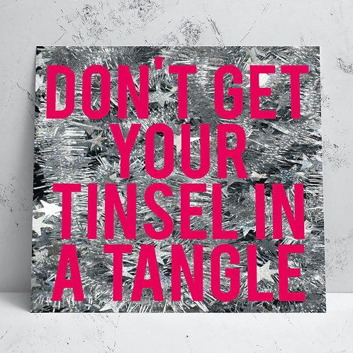 Tinsel Christmas Card