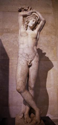 The Mazarin Hermaphrodite (also called Narcisse or  Génie du repos éterne), marble sculpture, III Century A.D., Louvre Museum, Paris.