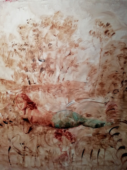 Elisa Filomena Ermafrodito nel bosco, 2021 Acrylic on canvas 140x130 cm €3,500