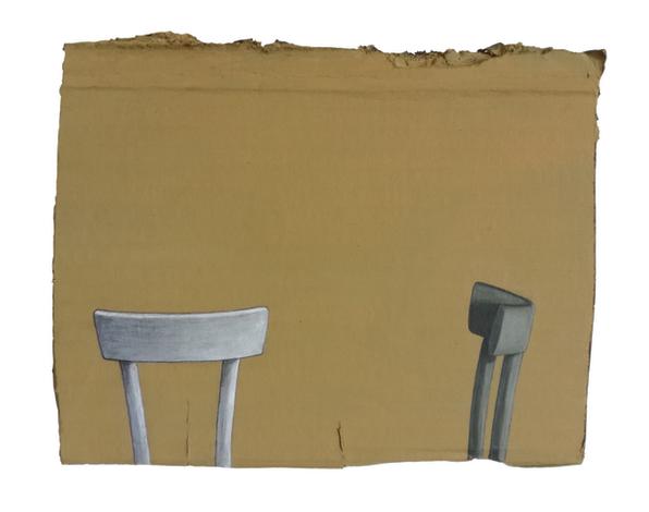 Damiano Azzizia Catisofobia, 2020 Acrylic on cardboard 28 x 18.5 cm